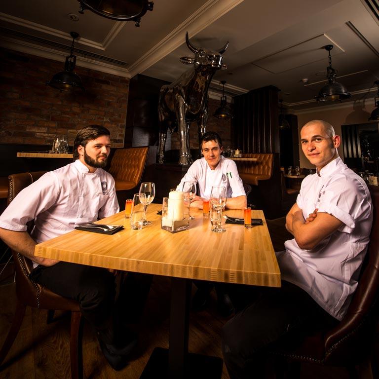 Chefs Of The Rock Garden Steakhouse Restaurant, Fermain Valley Hotel, Guernsey